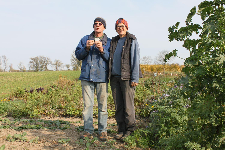 Hofübergebende - Paar im Feld