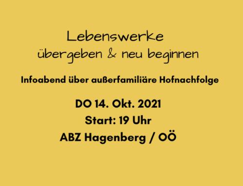 Infoabend über außerfamiliäre Hofnachfolge im ABZ Hagenberg/OÖ